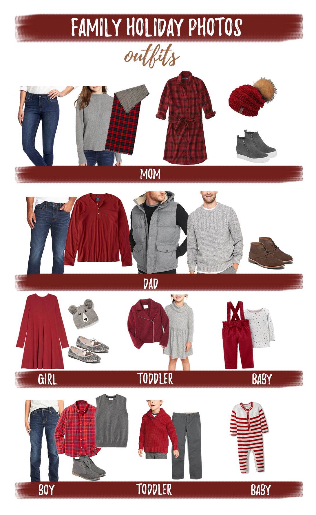 family holiday photo outfits 2018
