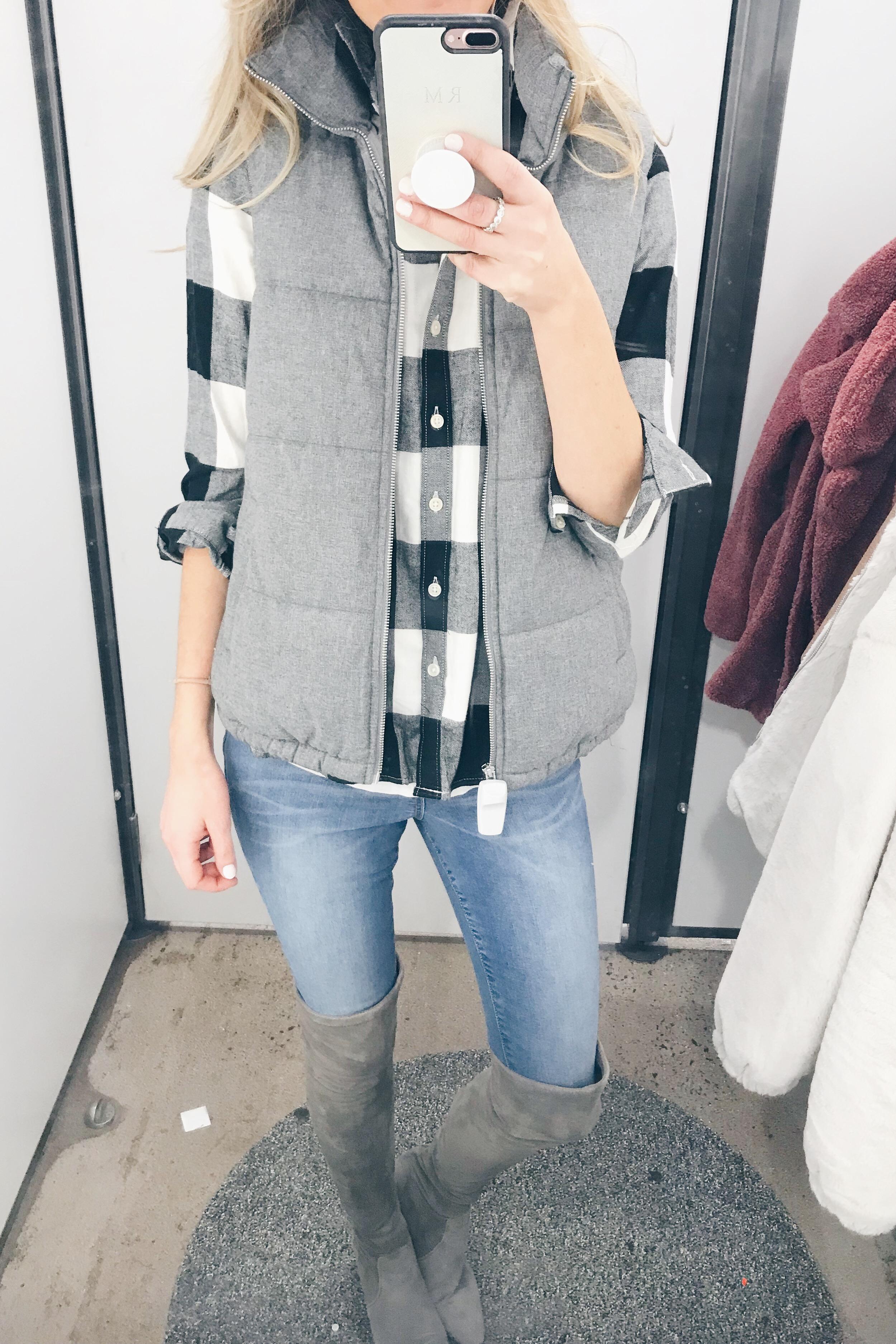 December Old Navy Try On - Vest/Flannel