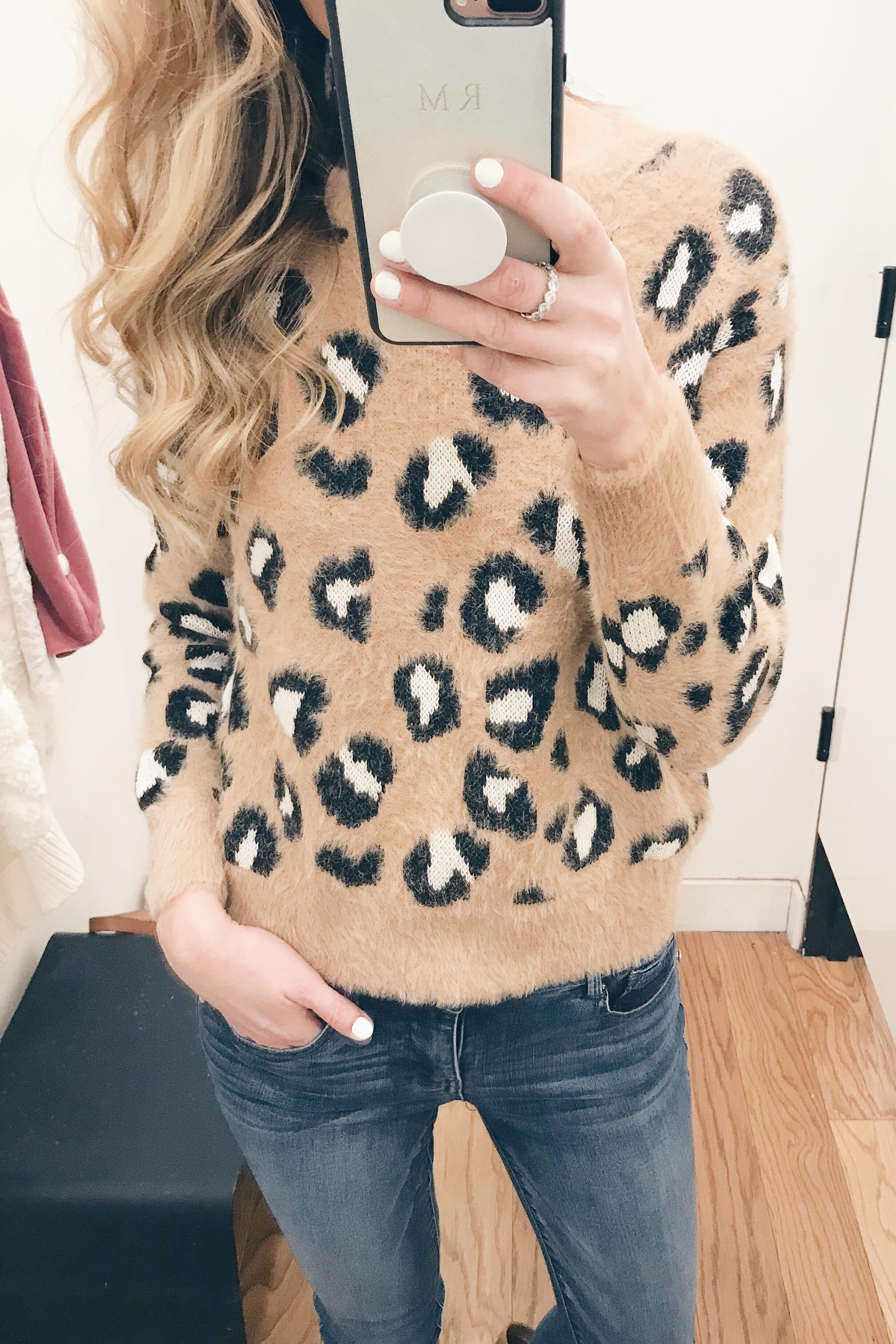 Pre Christmas Weekend Sales - Leopard Sweater
