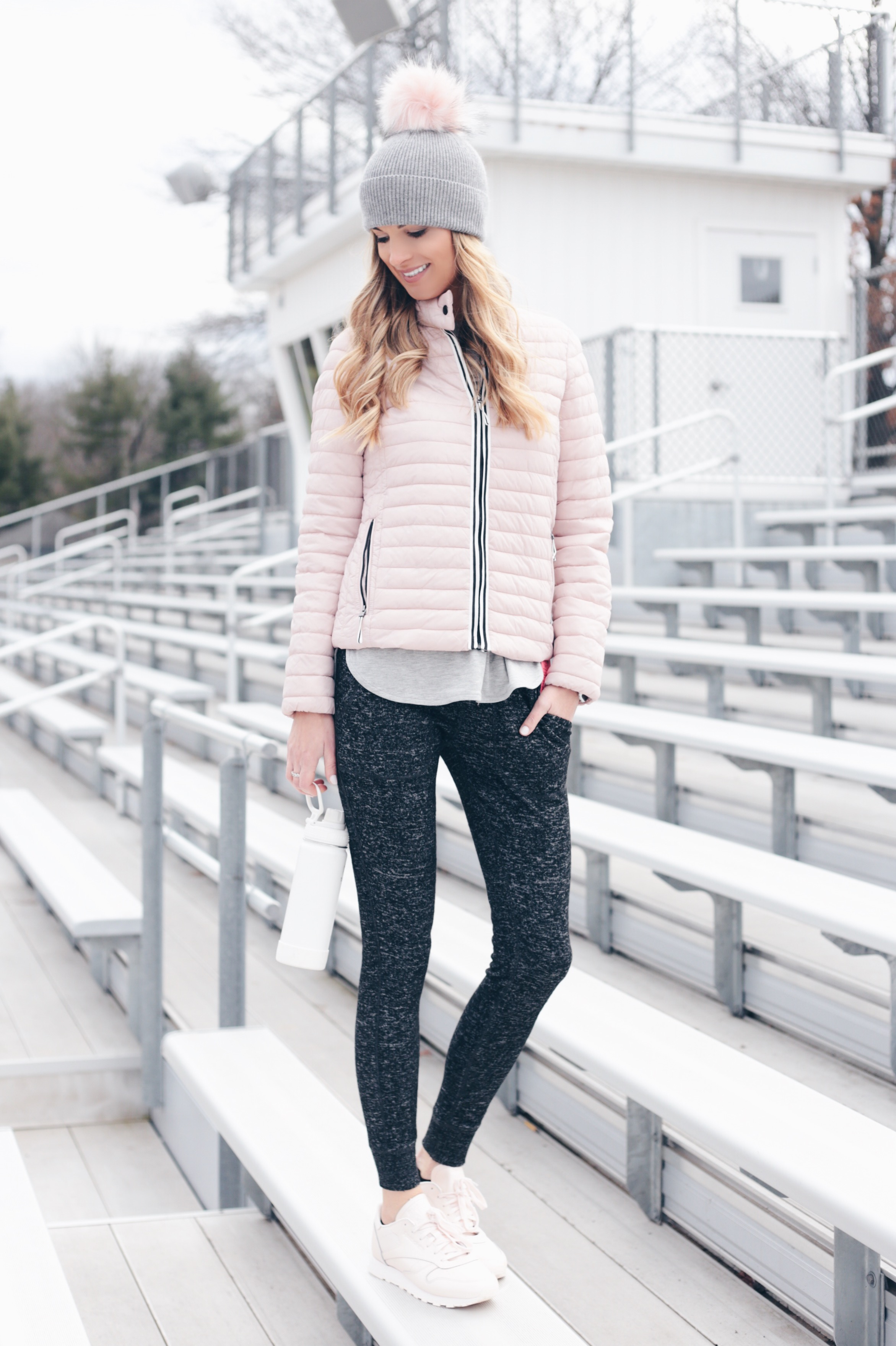 Pink Winter Athleisure Outfit Ideas
