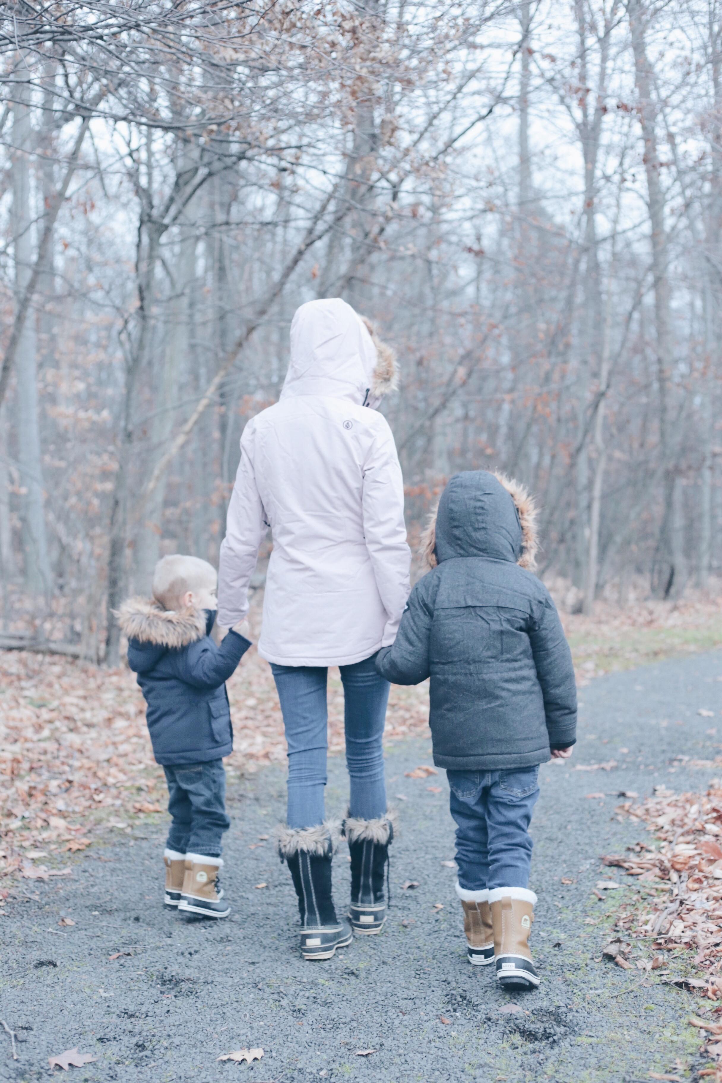 fur trim hooded winter jackets for the family on pinteresting plans blog