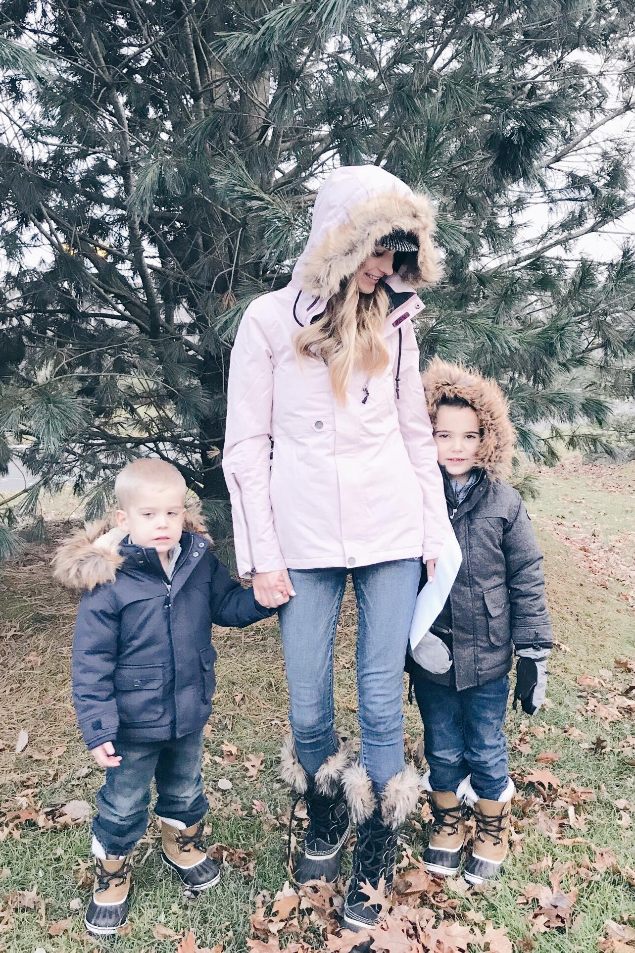 pinteresting plans blog - fur trim hooded winter jackets for the family