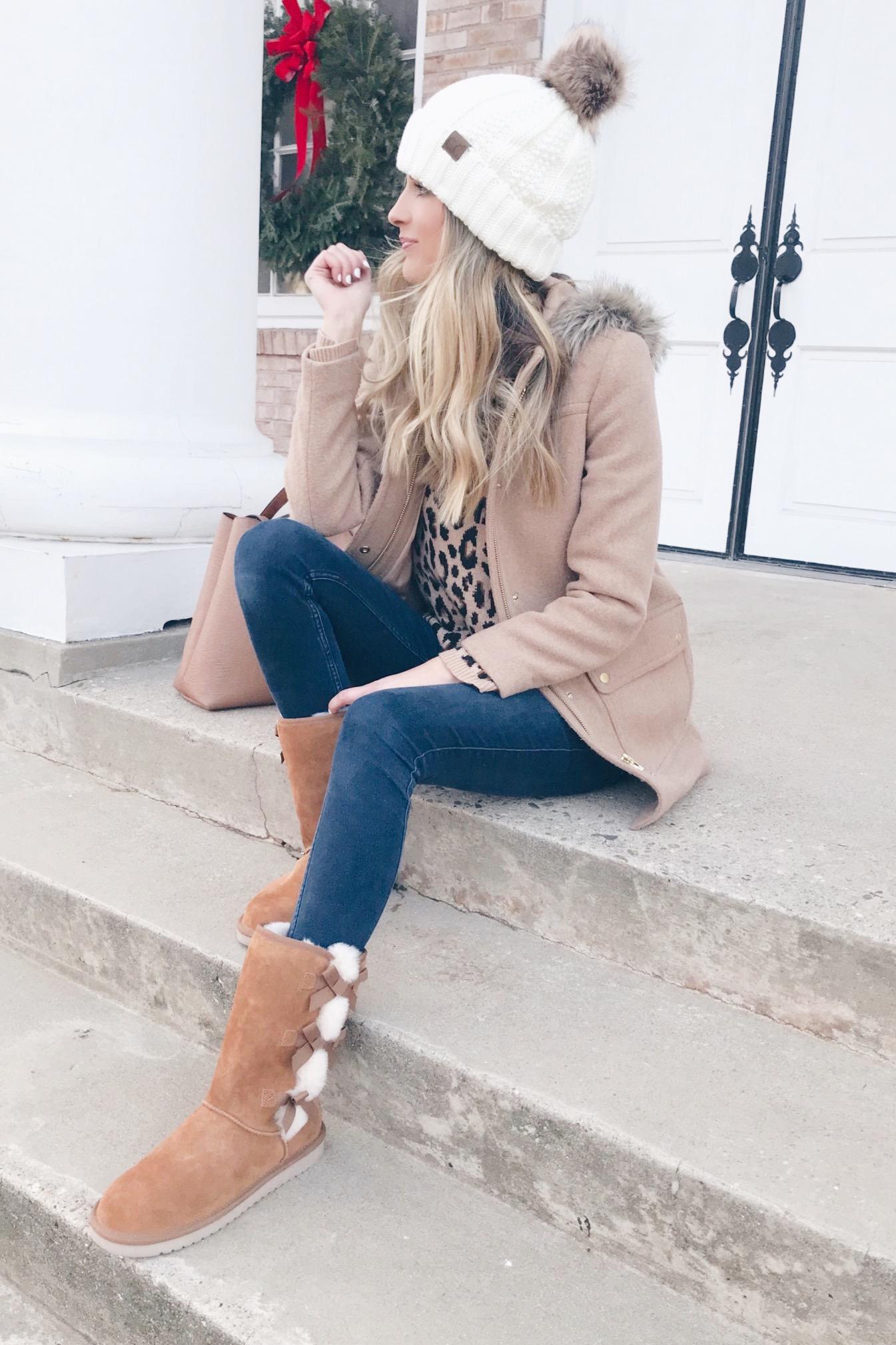 pinteresting plans fashion blog in women's boots with bows x koolaburra
