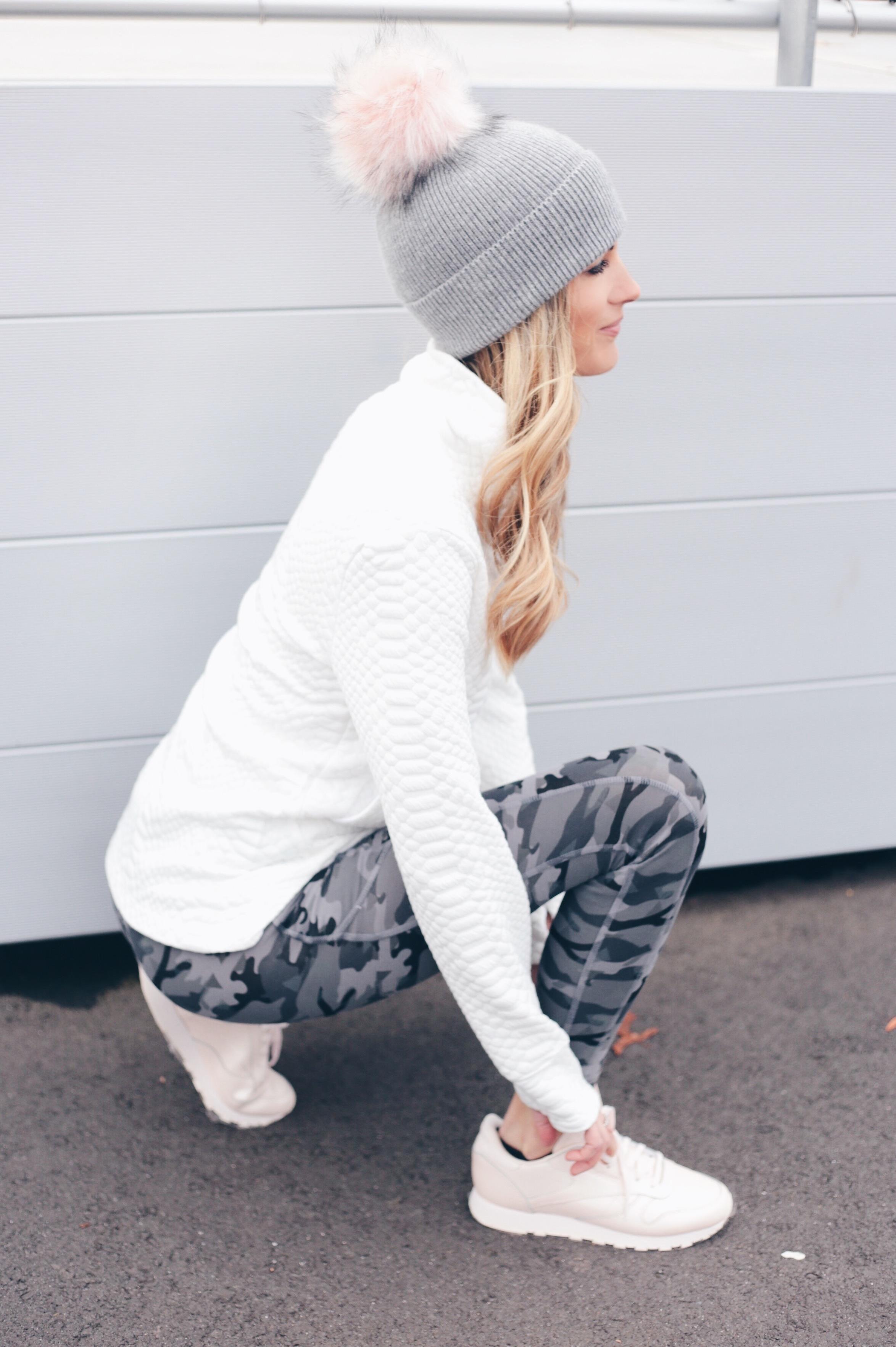 Winter Athleisure Outfit Ideas | Camo Leggings