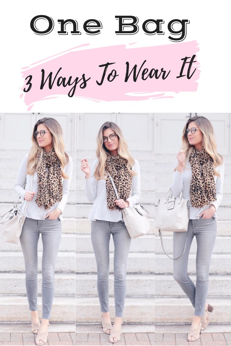 Spring Handbags 2019 - 3 ways to wear a bucket bag on pinteresting plans fashion blog