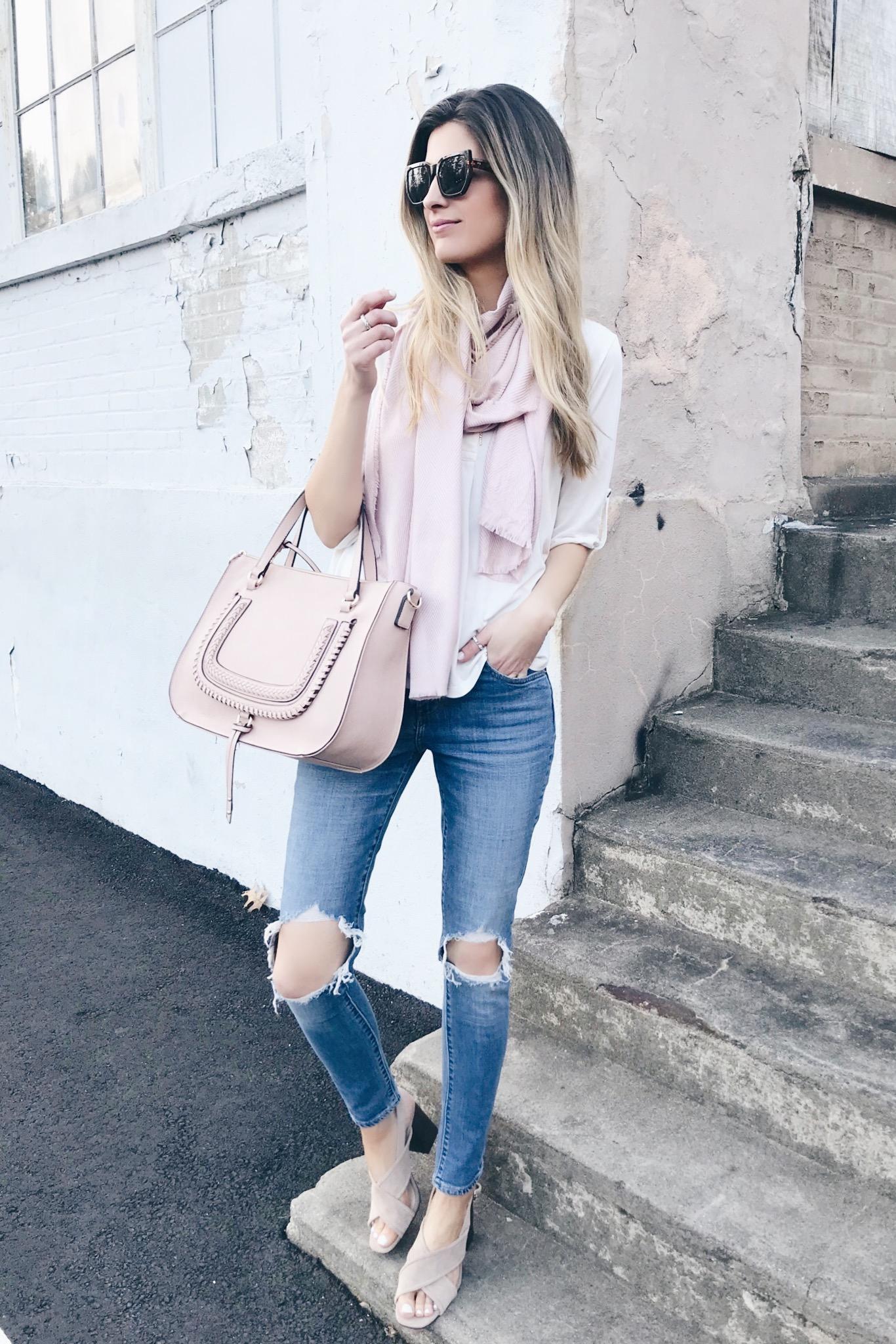 Spring Handbags 2019 - Sole Society Blush Destin Satchel on Pinteresting Plans fashion blog