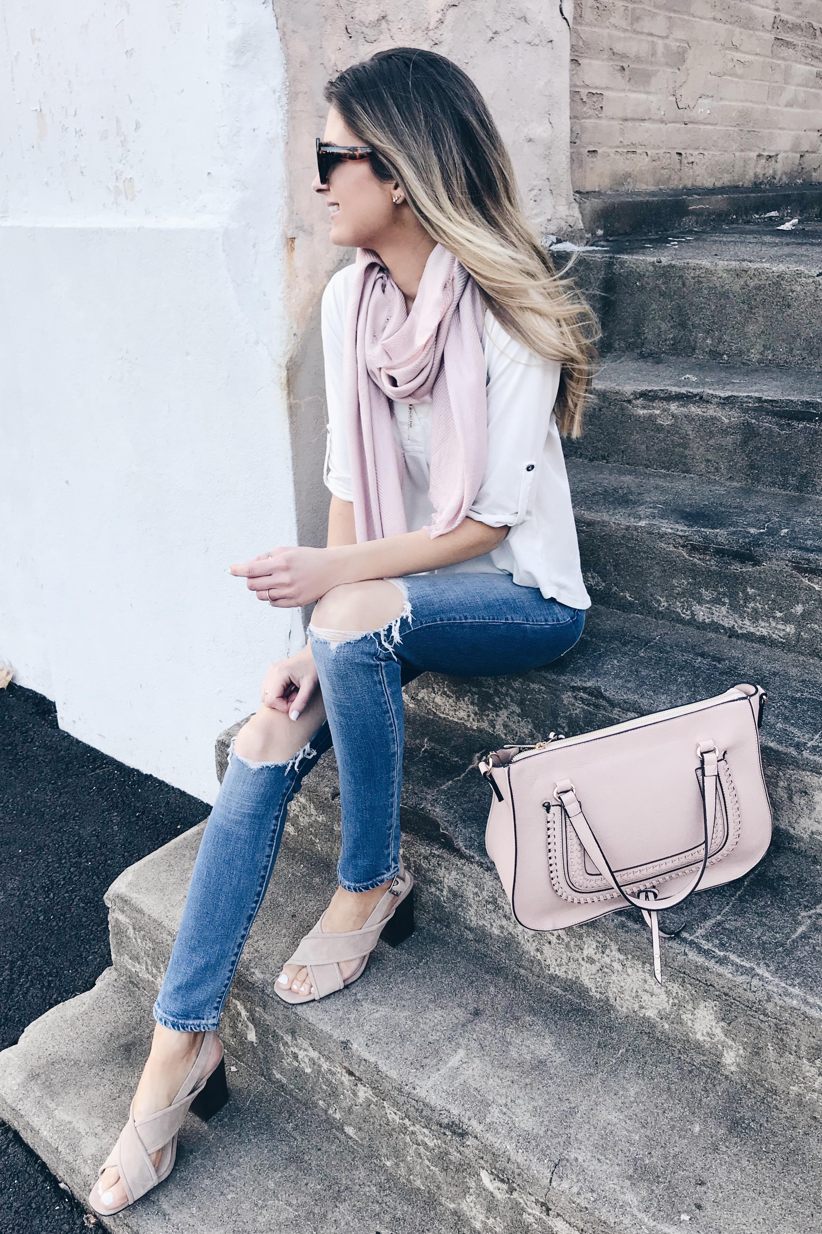 Spring Handbags 2019 - blush satchel and crossover heel sandals on Pinteresting Plans blog