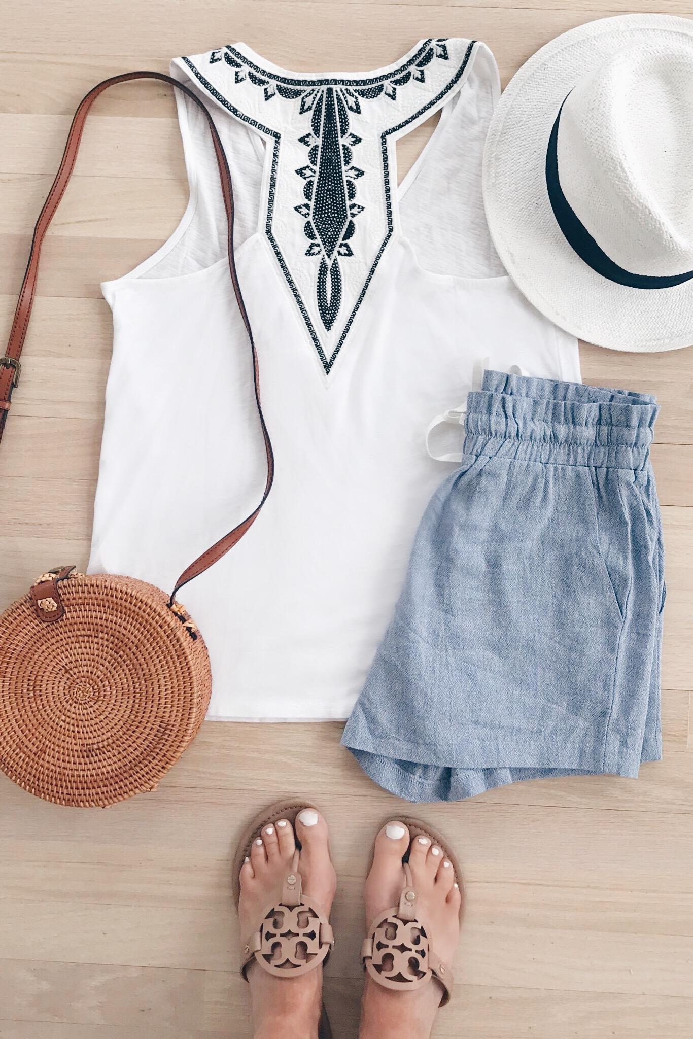 resort wear 2019 - gibson x cassiesugarplum back detail tank and shorts