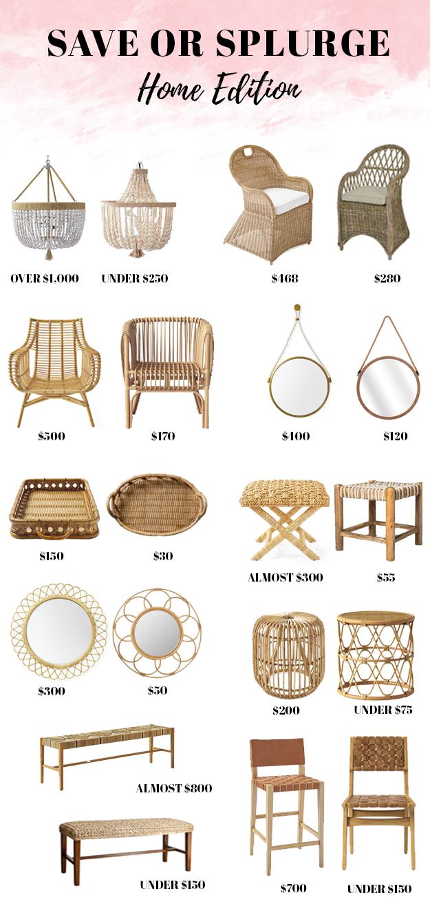 Save or Splurge: Home Decor Edition | Rattan Home Decor