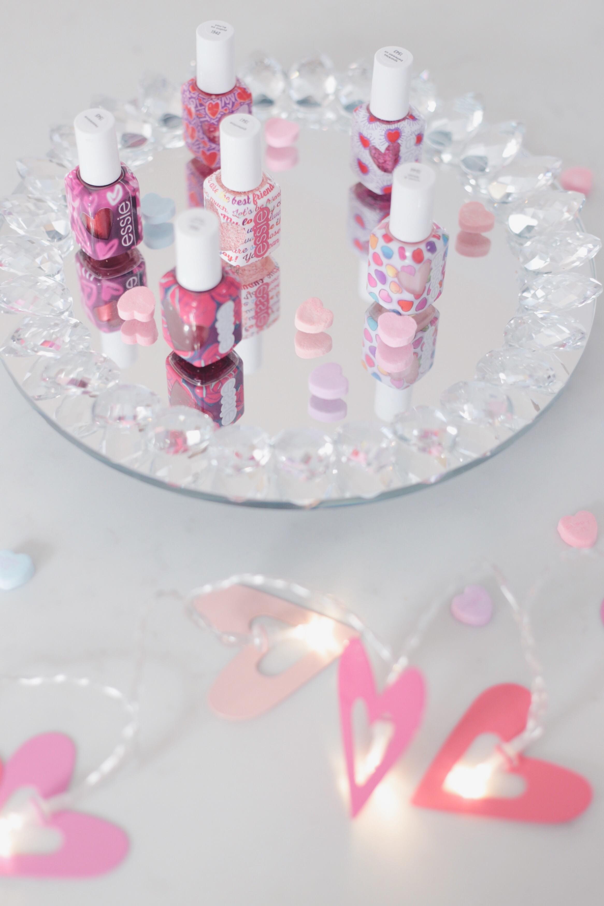 valentine's day manicure with essie - nail polish 2019 pinteresting plans blog