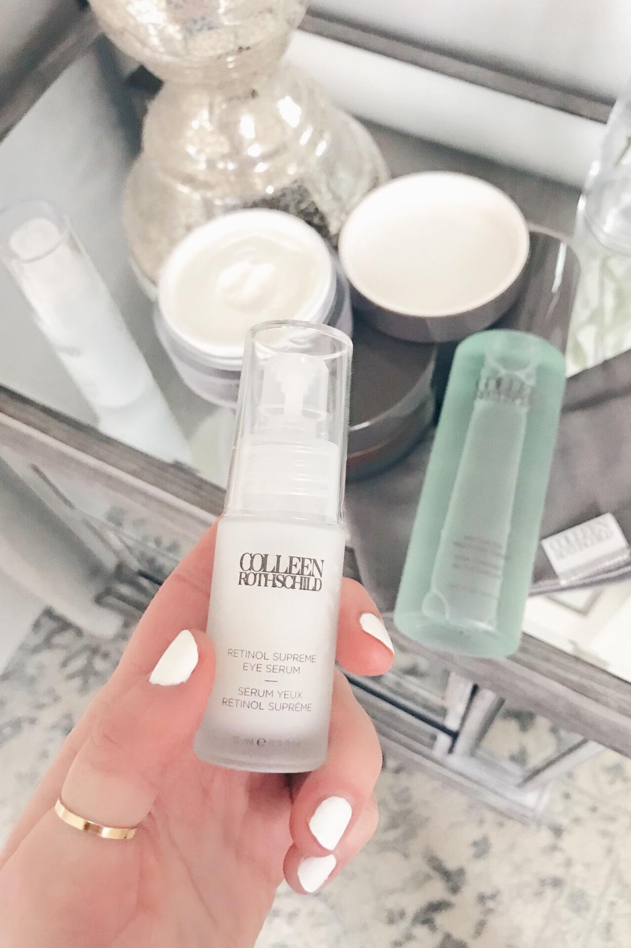 colleen rothschild beauty product review - retinol eye serum on pinteresting plans blog