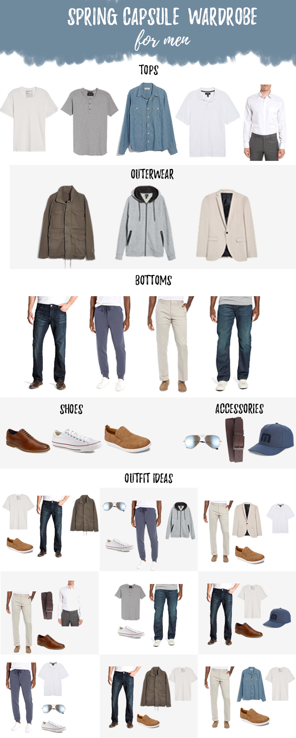 men's spring capsule wardrobe 2019 - himterestingplans men's fashion blog