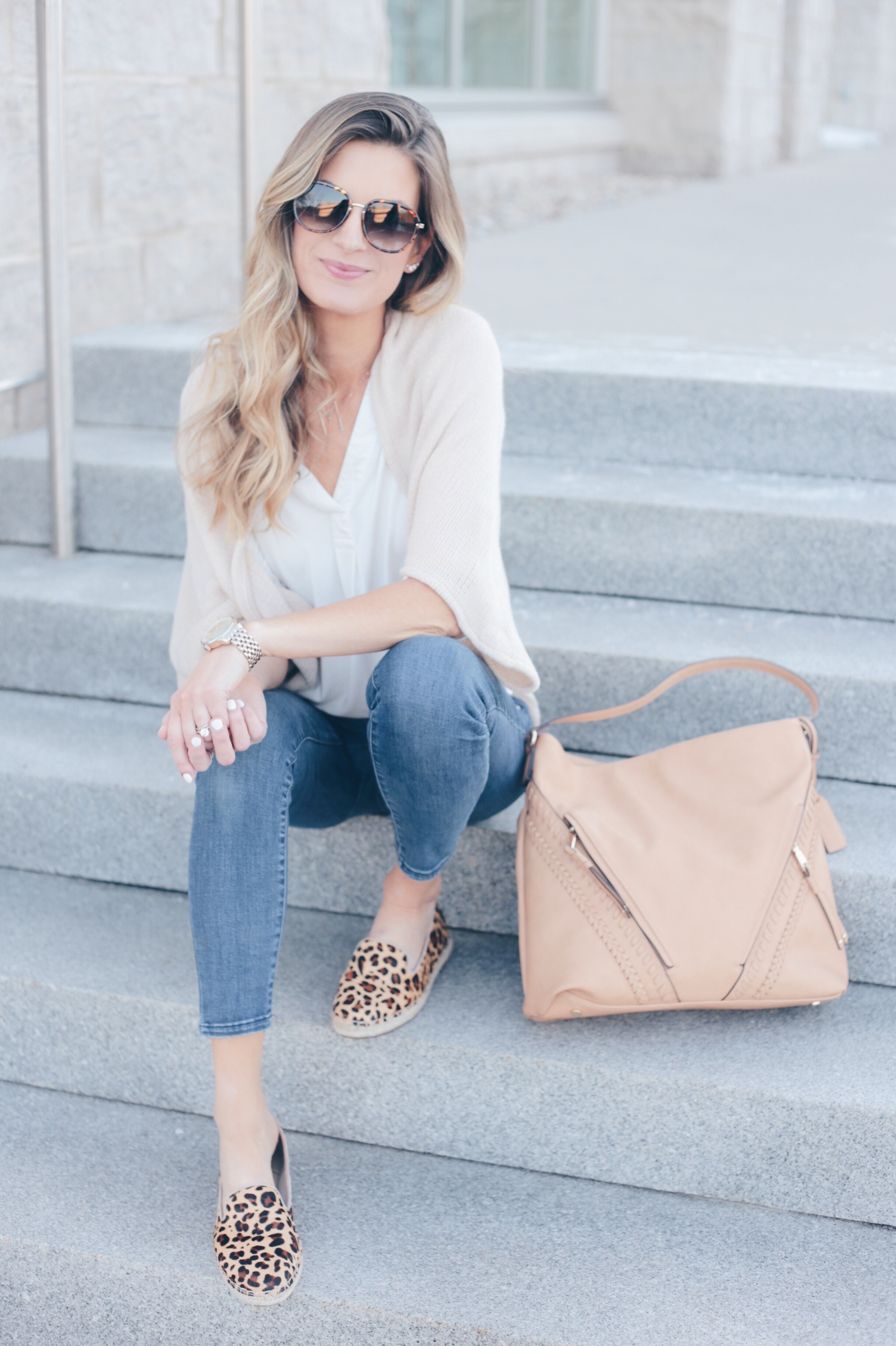 Spring Travel Outfit Inspiration   Leopard Flats
