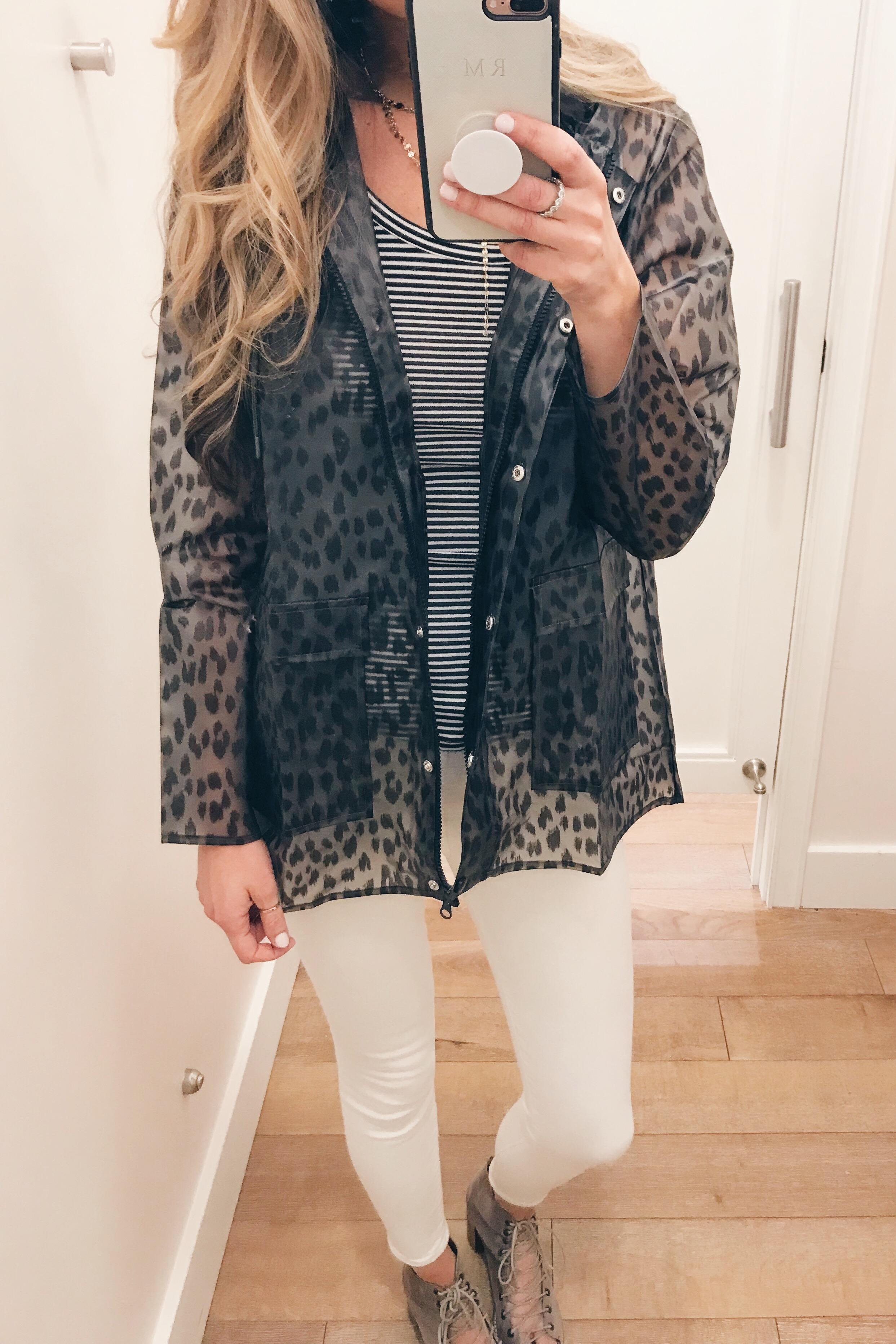 leopard raincoat on sale on Pinteresting Plans fashion blog