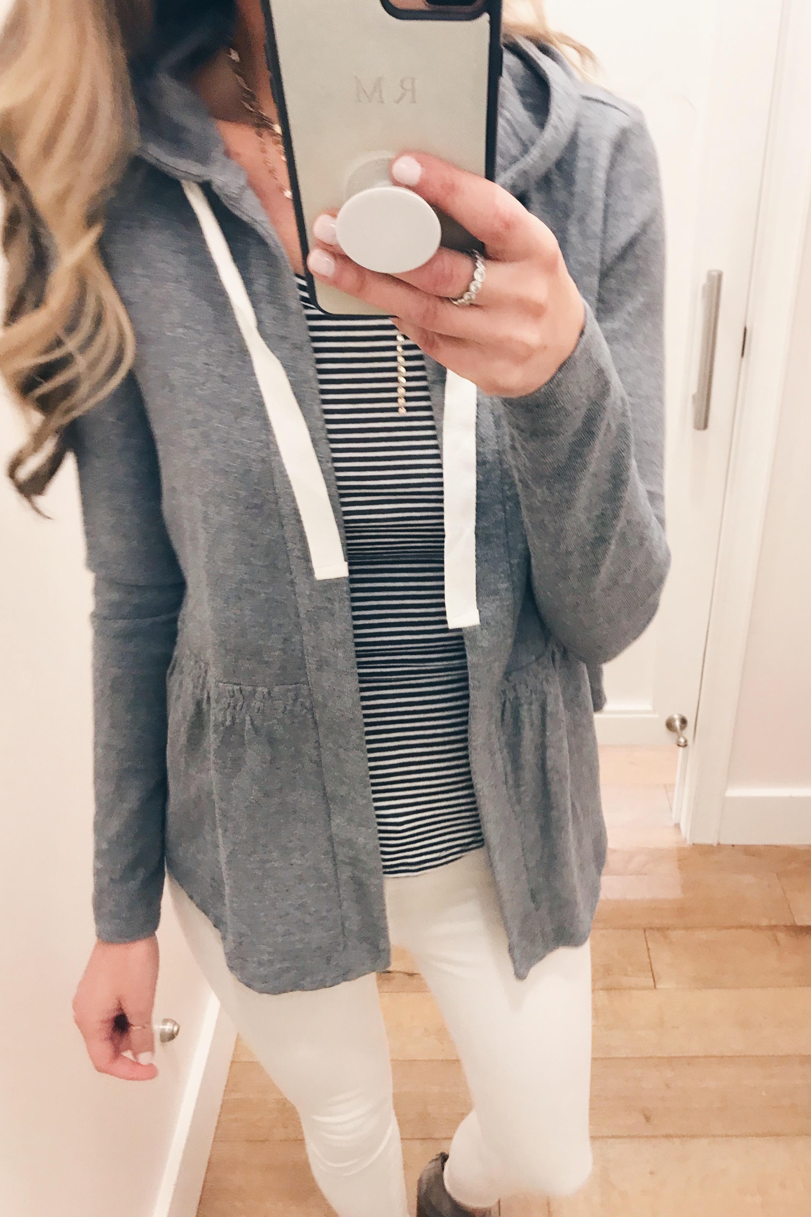 peplum fit open hoodie on Pinteresting Plans fashion blog