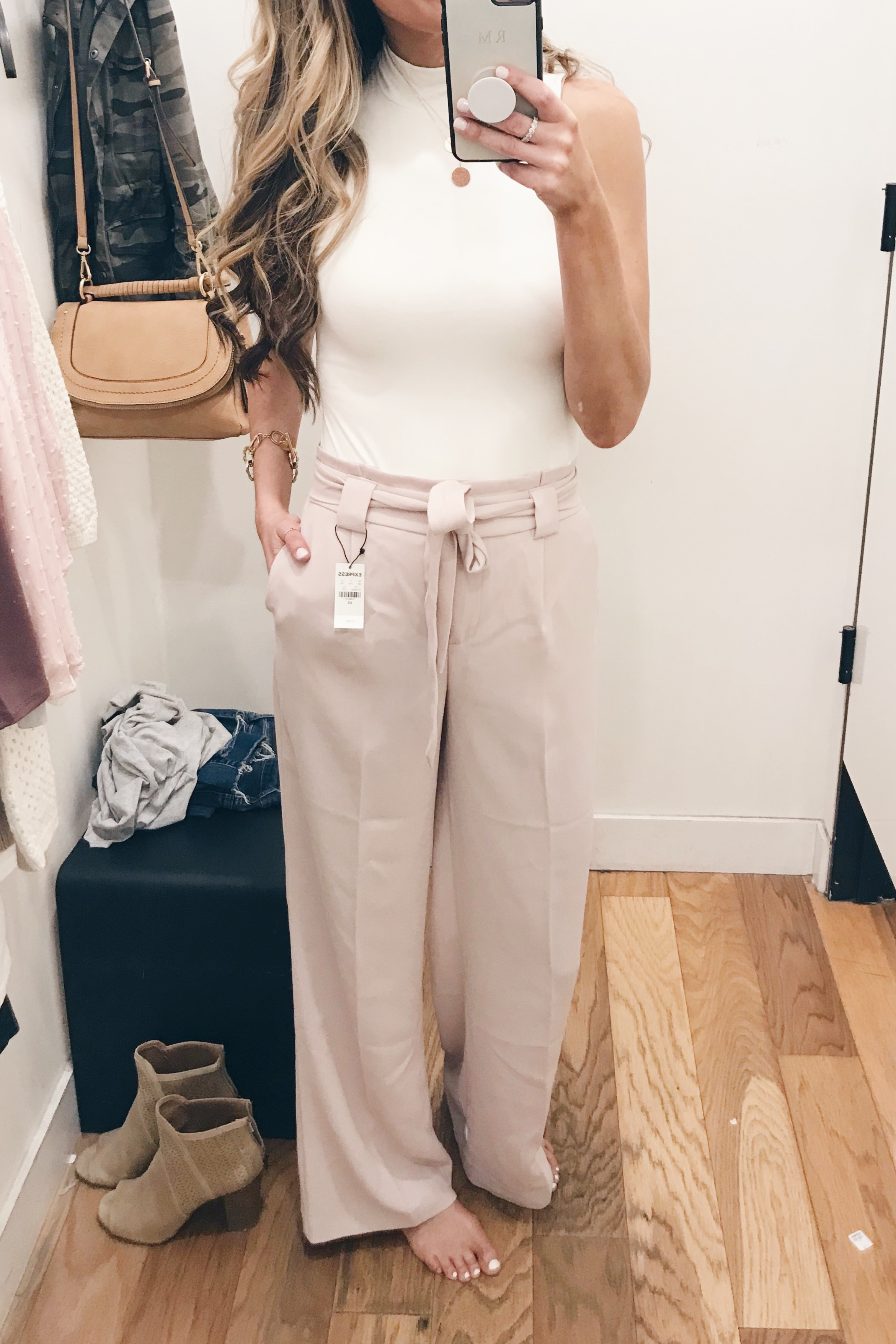express sale march 2019 try on - wide leg pink pants on Pinteresting Plans blog