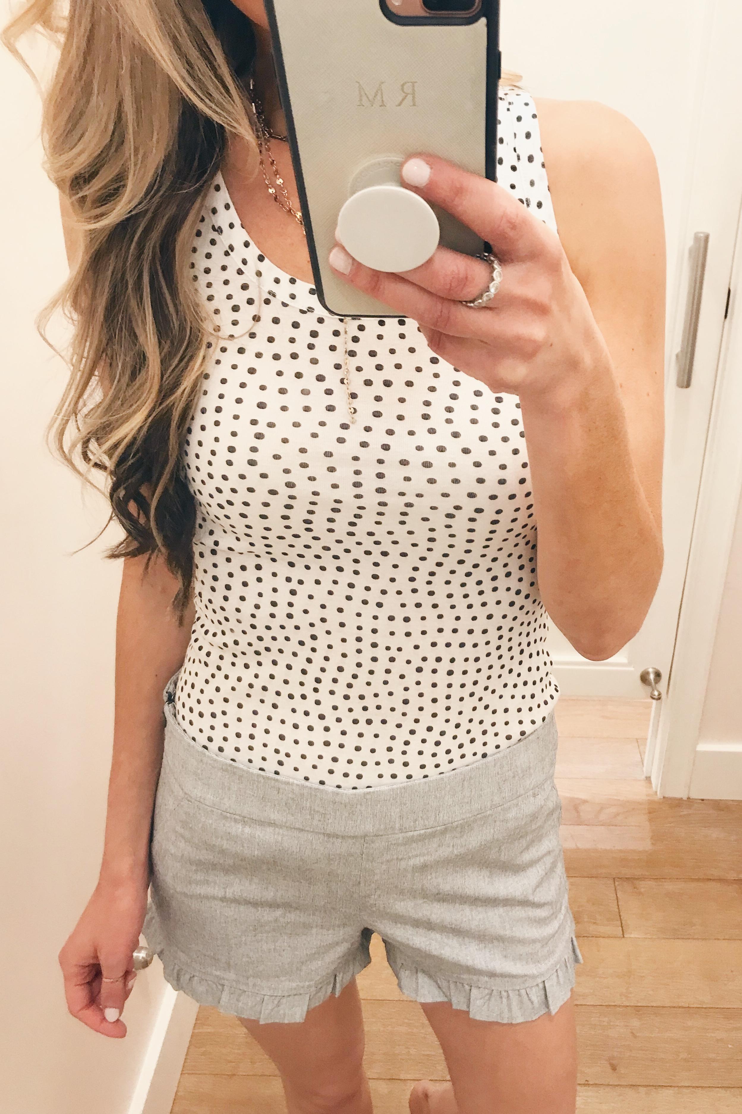ruffle hem shorts on Pinteresting Plans fashion blog