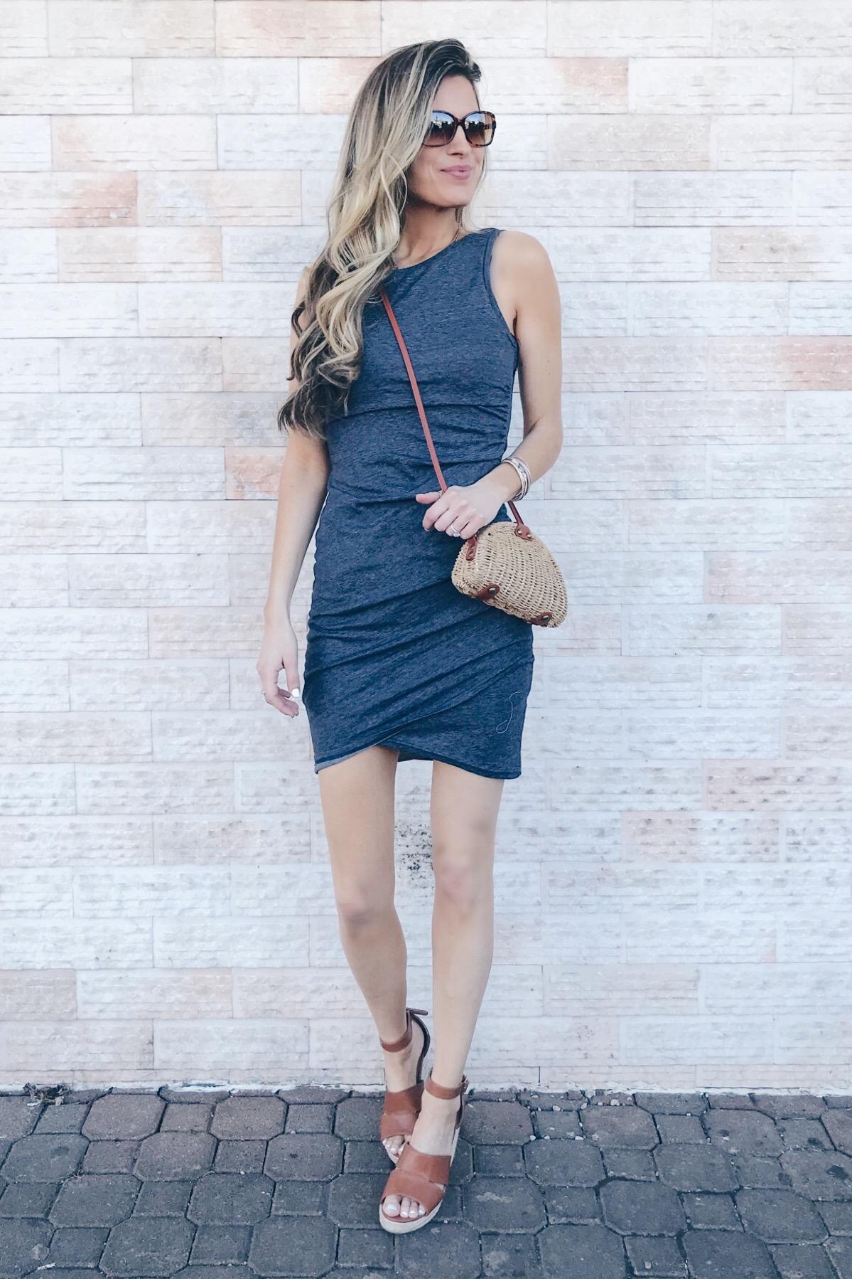 Affordable Spring Dress Options - Navy Blue