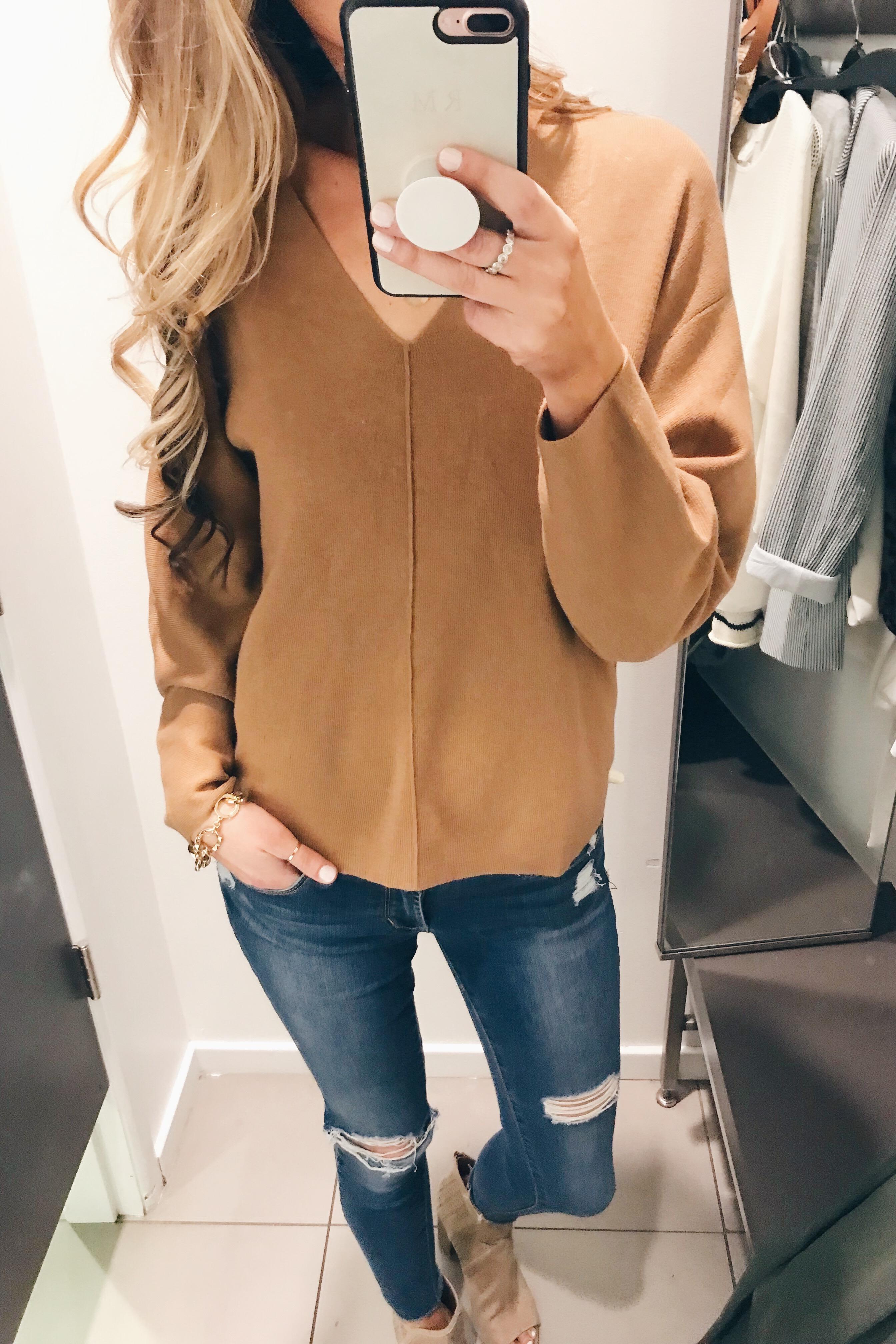 oversized camel sweater on Pinteresting Plans blog