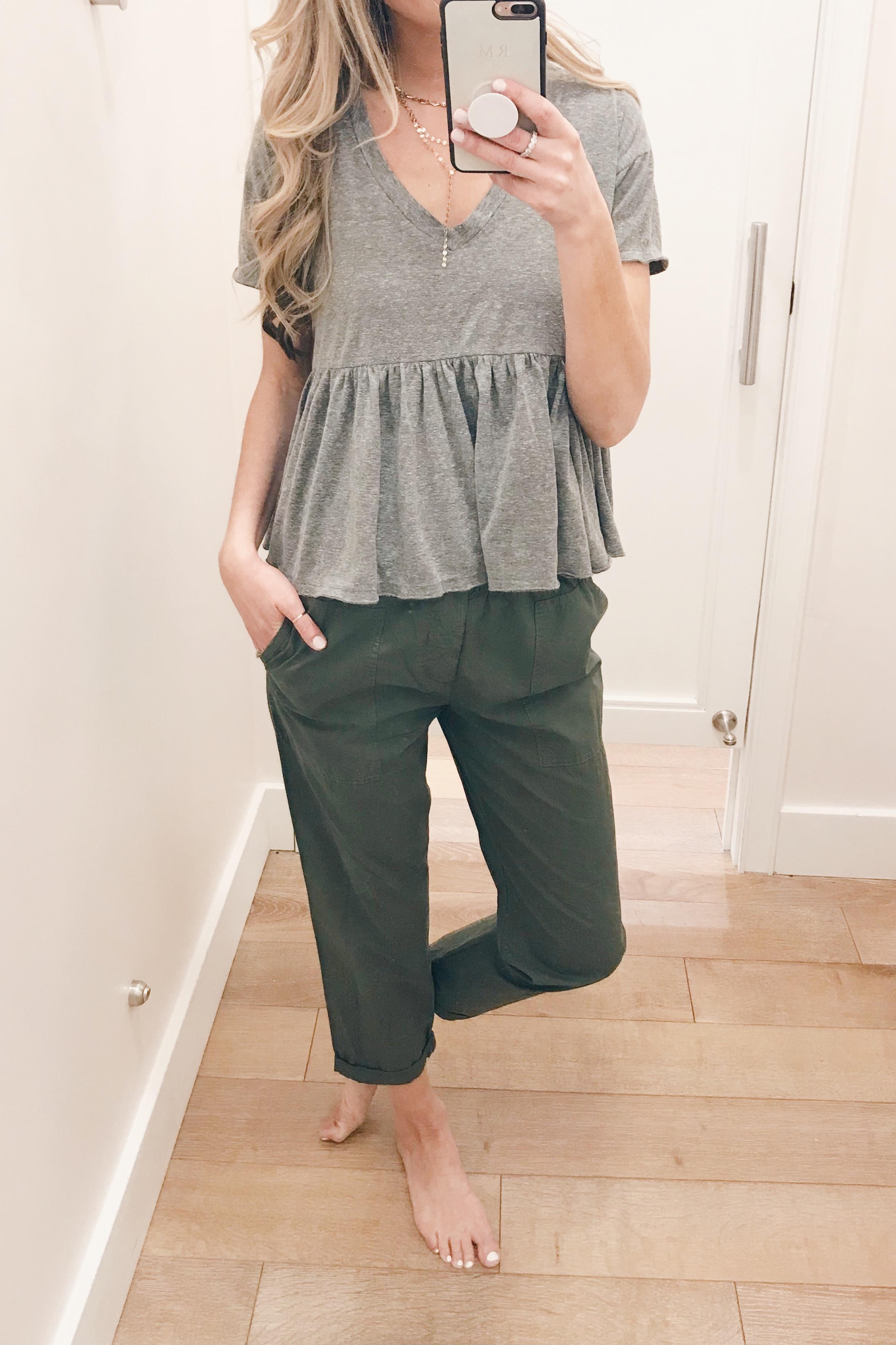 olive green travel pants on Pinteresting Plans fashion blog