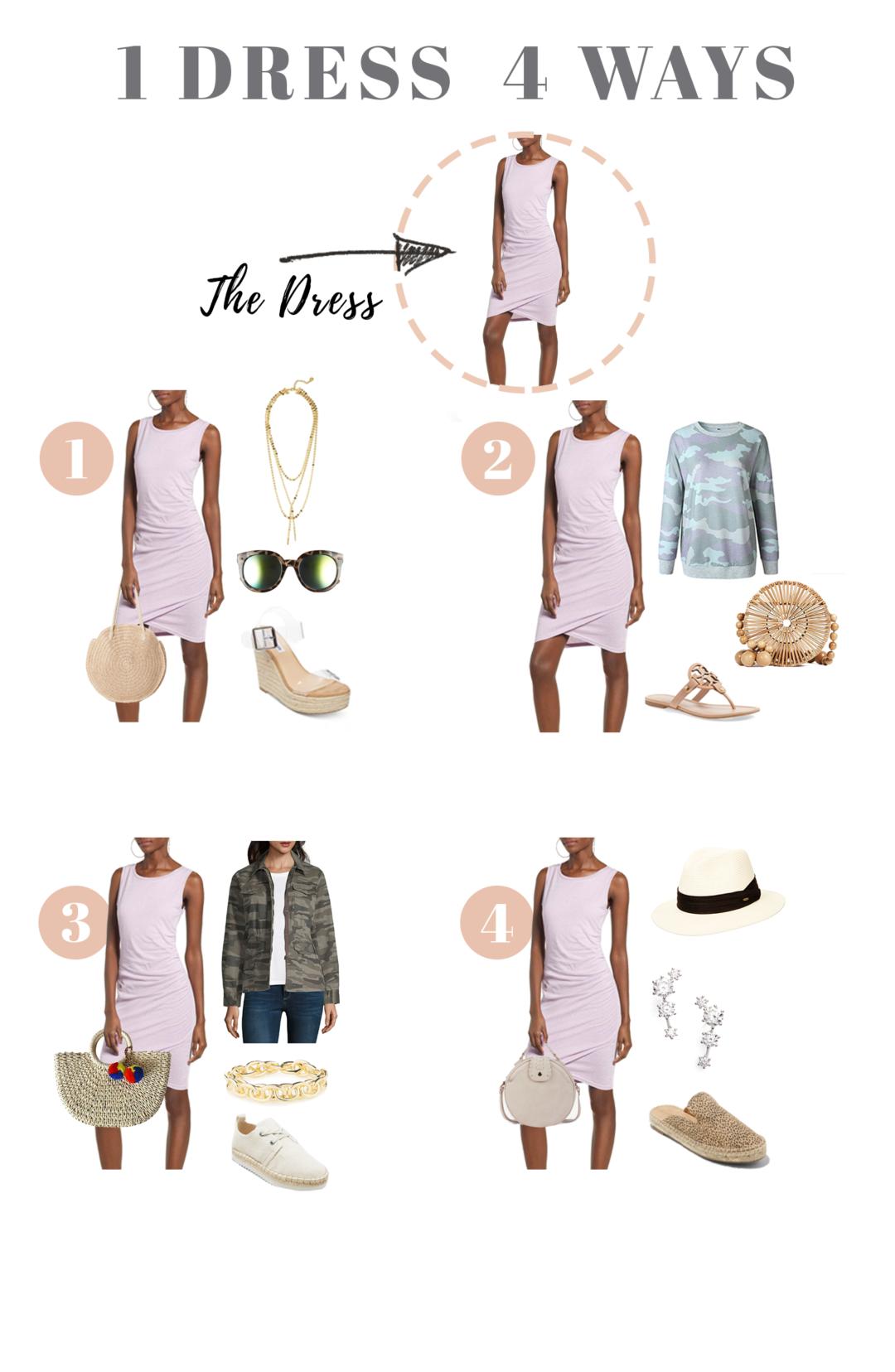 casual spring dress 4 ways - pinteresting plans blog