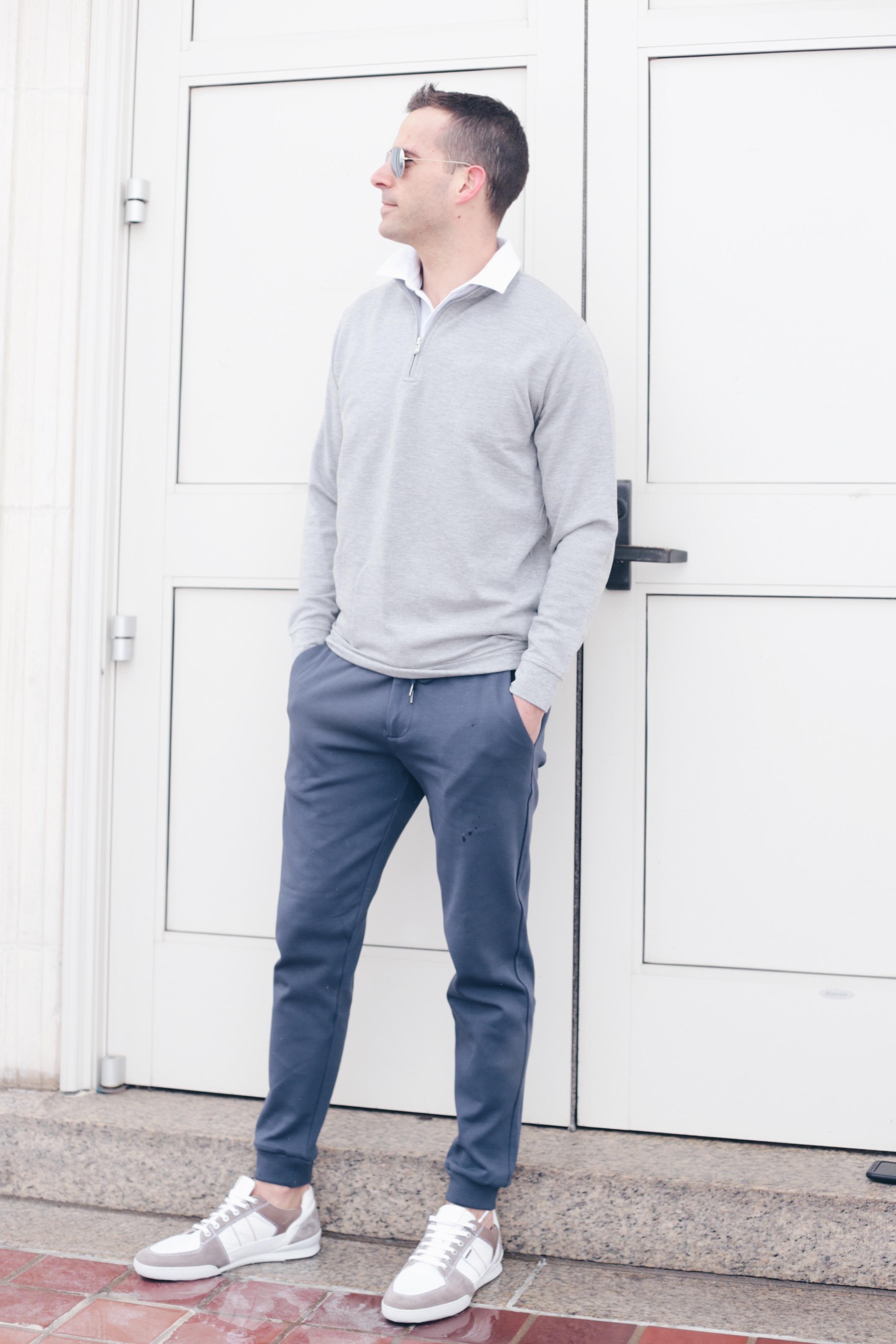 men's spring capsule wardrobe 2019 - men's joggers outfit ideas