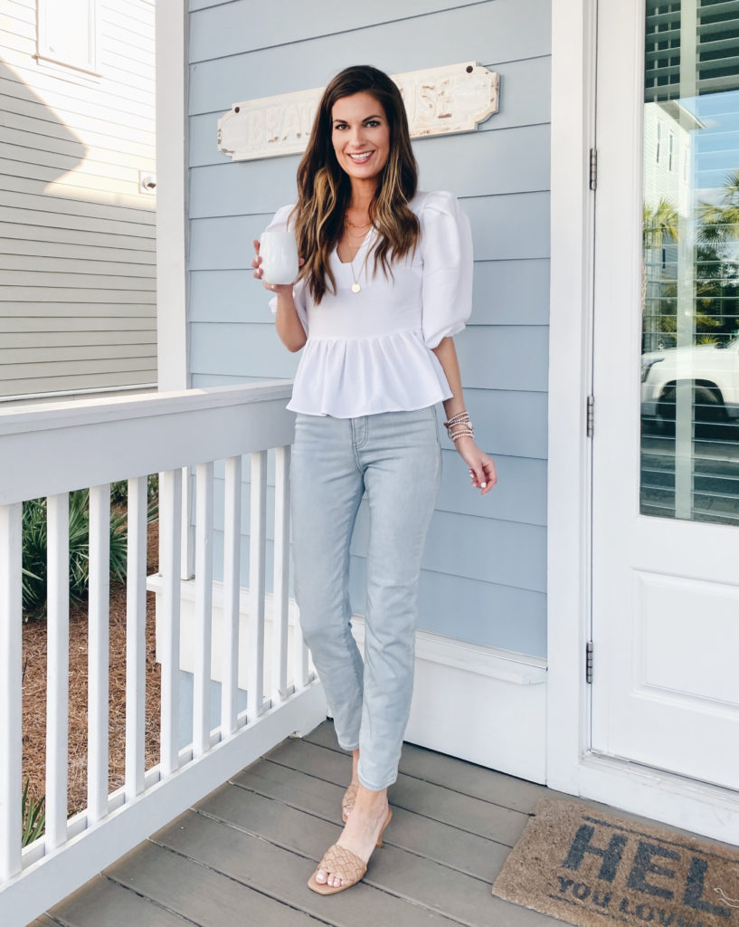 how to style slim fit jeans for spring