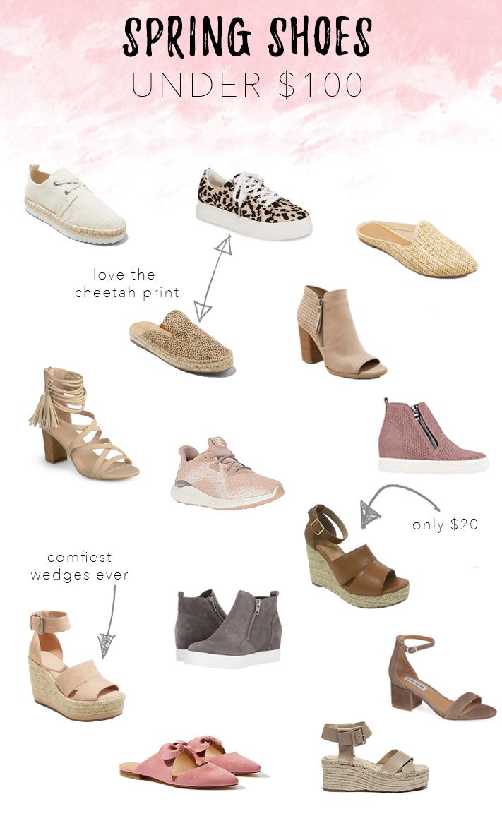 spring shoes under $100 2019 picks - pinteresting plans blog