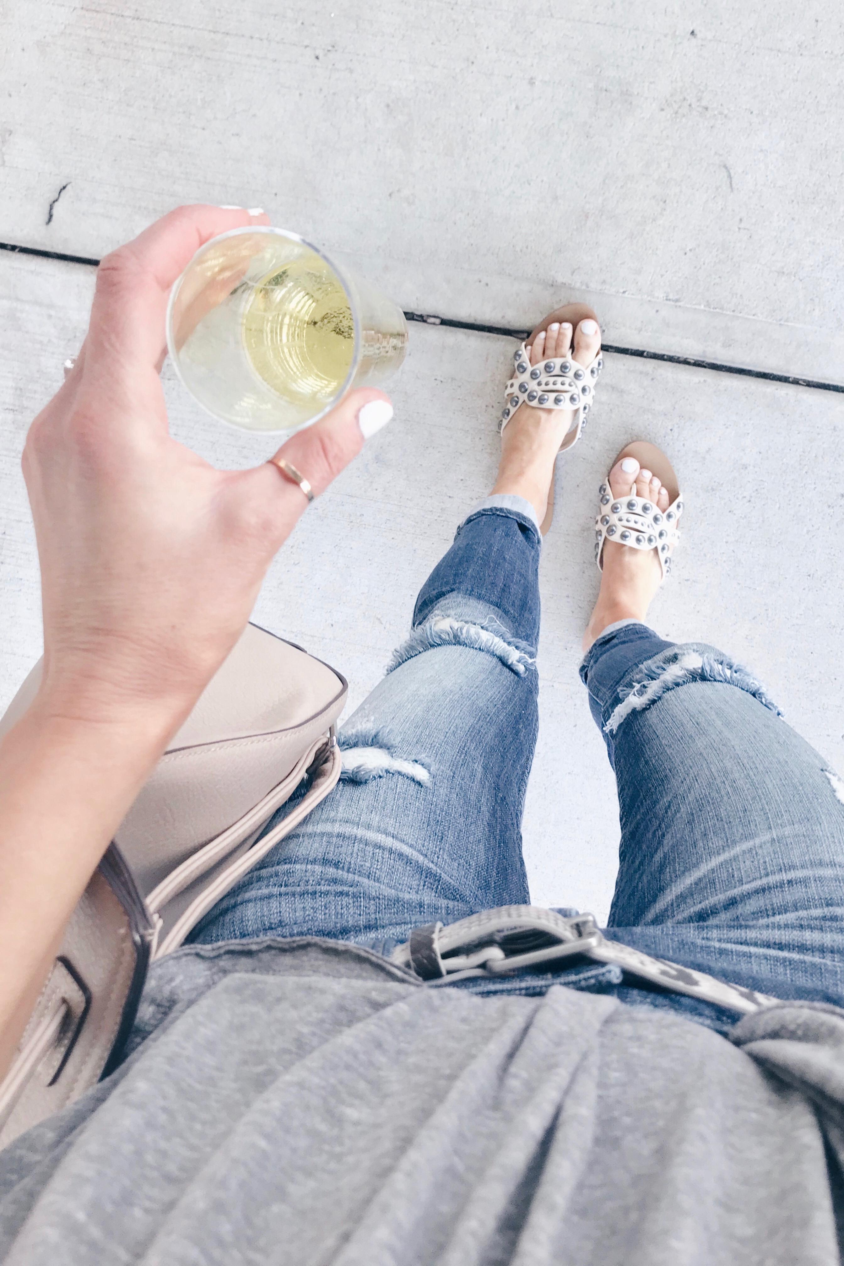top spring outfits and easter weekend sales - embeliished white flip flips - pinteresting plans blog