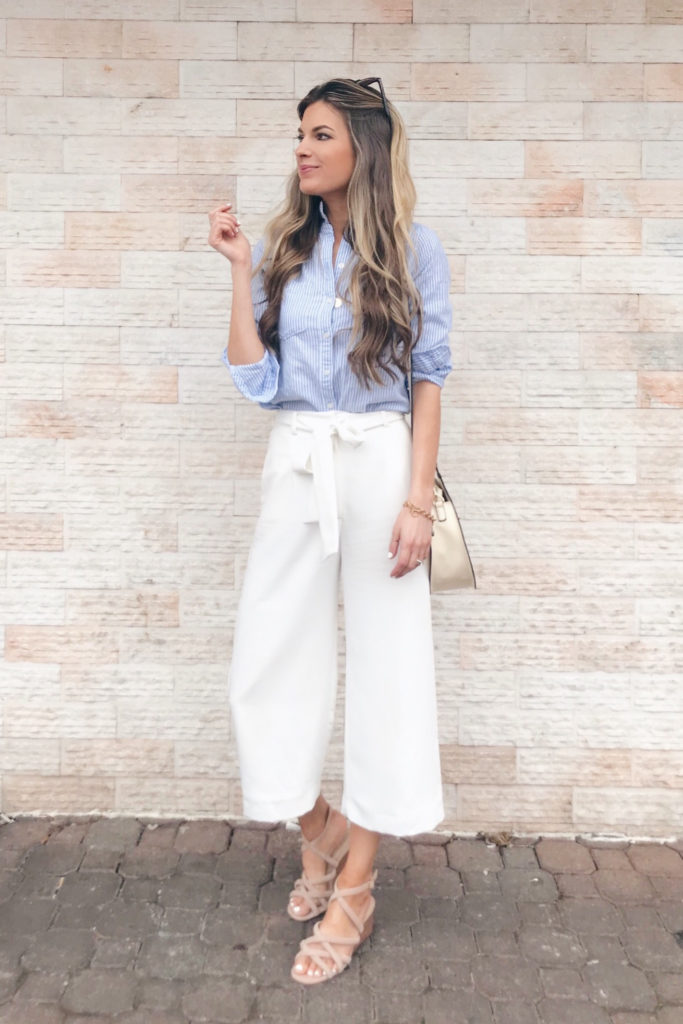 How to Style Wide Legged White Pants