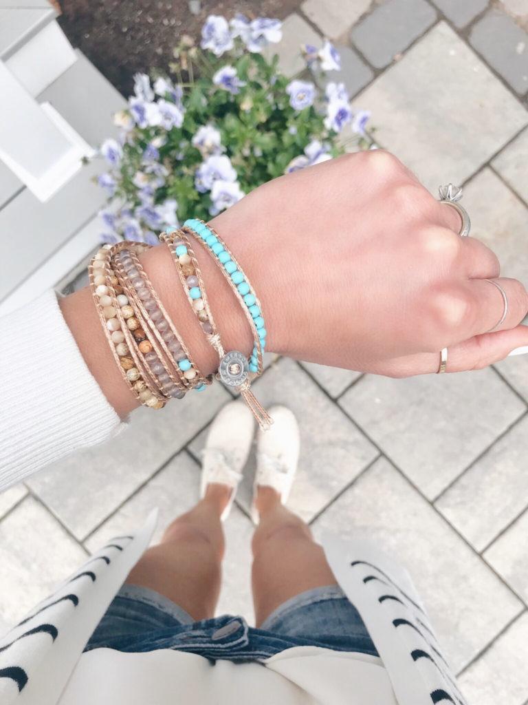 beachy beaded wrap bracelet - pinteresting plans connecticut style blogger