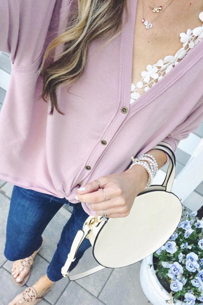 bralette and headed wrap bracelet spring outfit ideas - pinteresting plans fashion blog