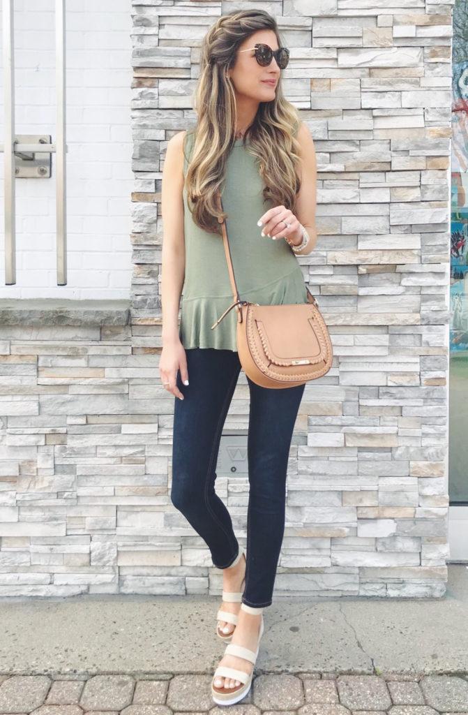 cute spring outfit - flatform sandals - pinteresting plans blog