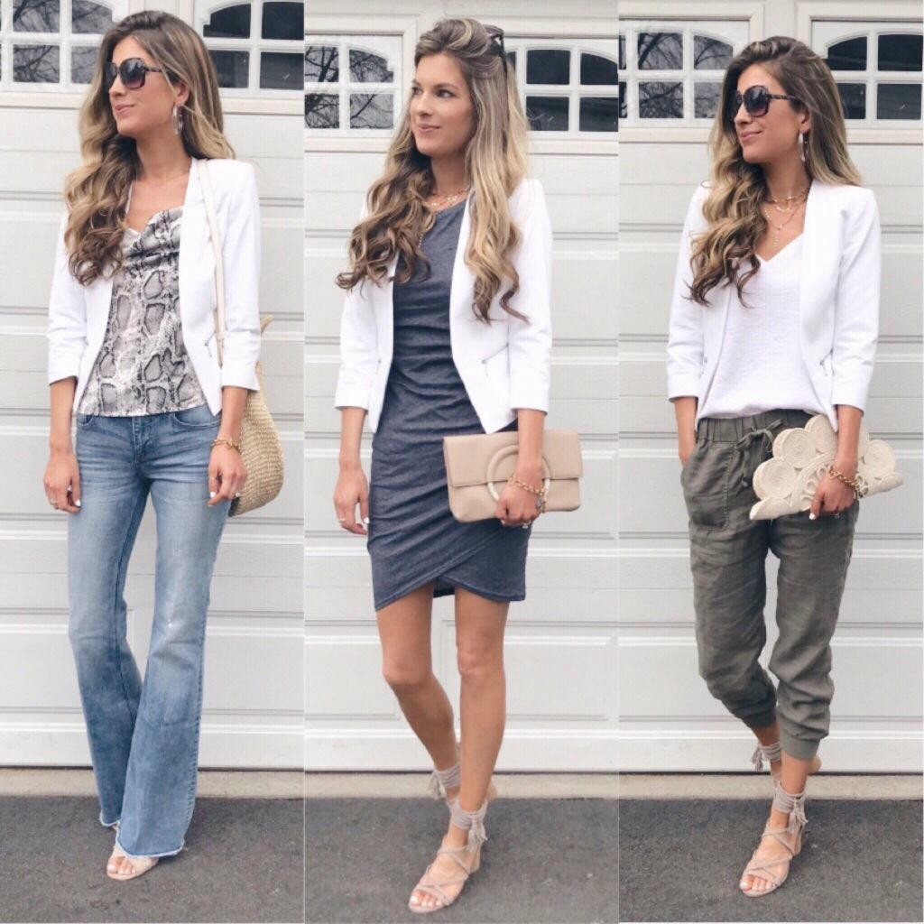 white blazer outfit ideas - pinteresting plans fashion blog - memorial day sale round up