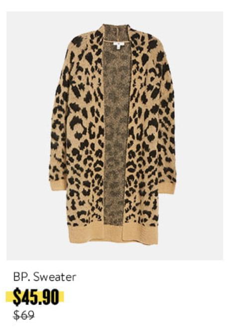nordstrom annivesary sale 2019 leopard cardigan - pinteresting plans fashion blog's picks