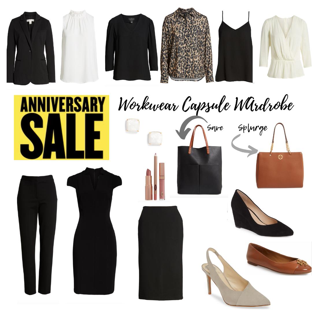 Nordstrom Anniversary Sale 2019 Workwear Capsule Wardrobe - pinteresting plans blog