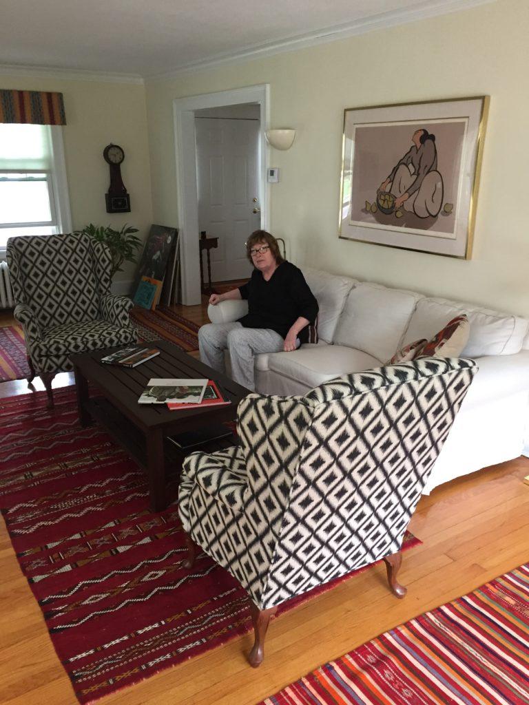 affordable large artwork for the living room - the before - pinteresting plans blog