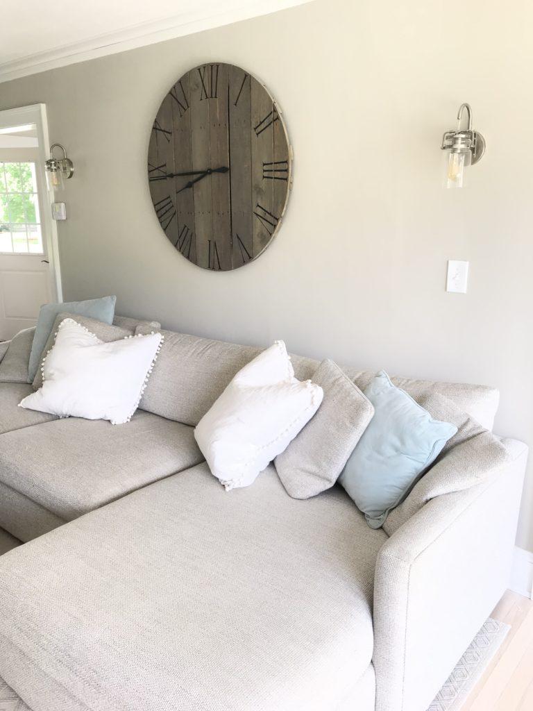 affordable large living room wall art - before photo - pinteresting plans blog
