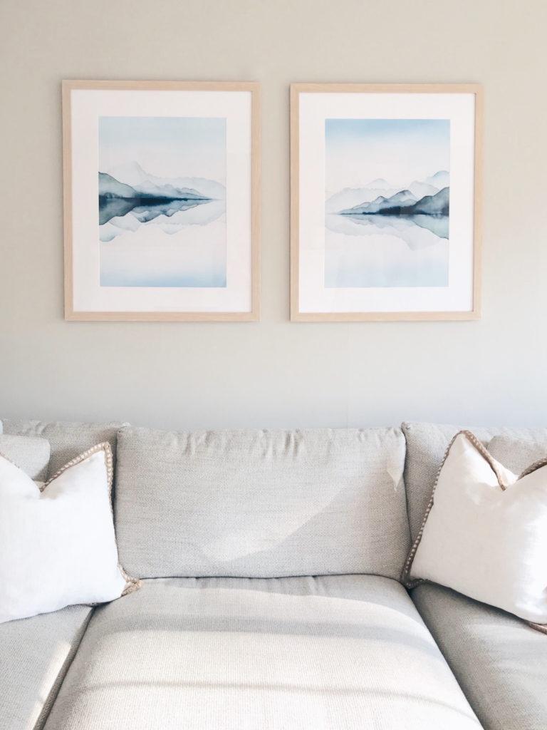 large affordable living room artwork over the sofa - pinteresting plans blog