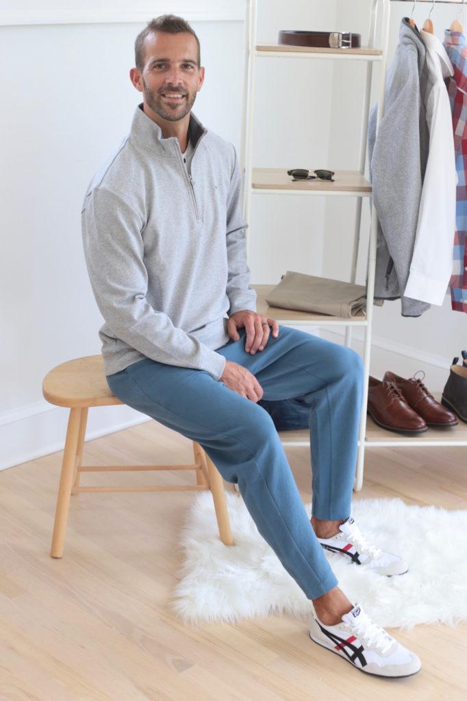 men's fall capsule wardrobe 2019 - men's joggers outfit - pinteresting plans blog