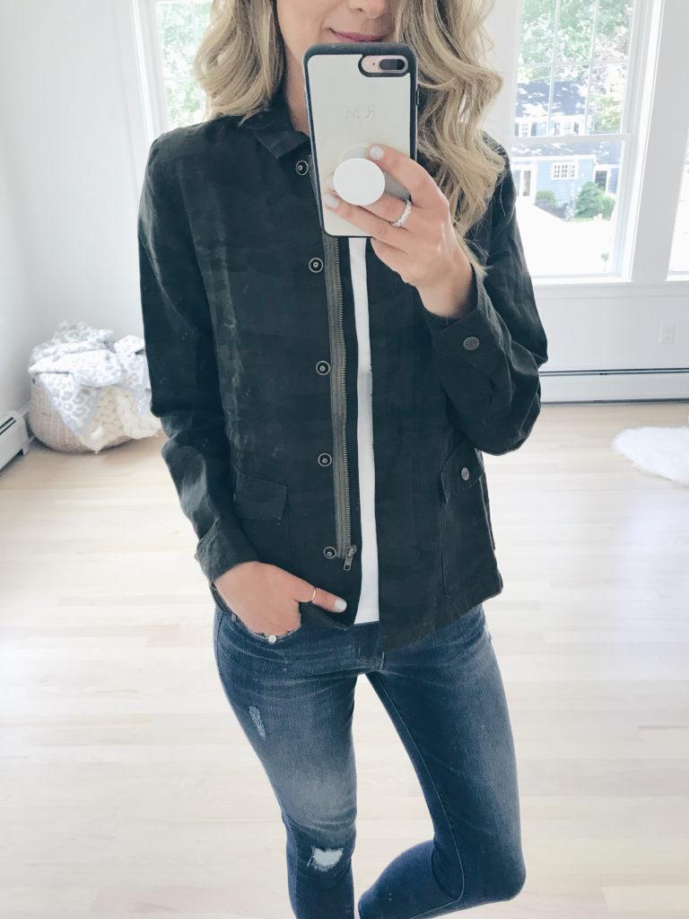 nordstrom anniversary sale 2019 try on - camo shirt jacket - pinteresting plans blog