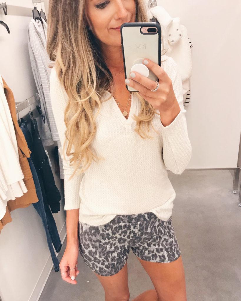 nordstrom anniversary sale 2019 try on - leopard pajama shorts - pinteresting plans blog