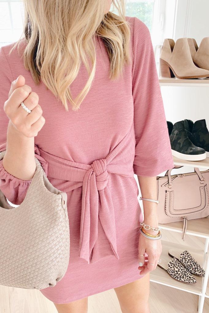 pink tie front amazon dress - pinterestingplans blog