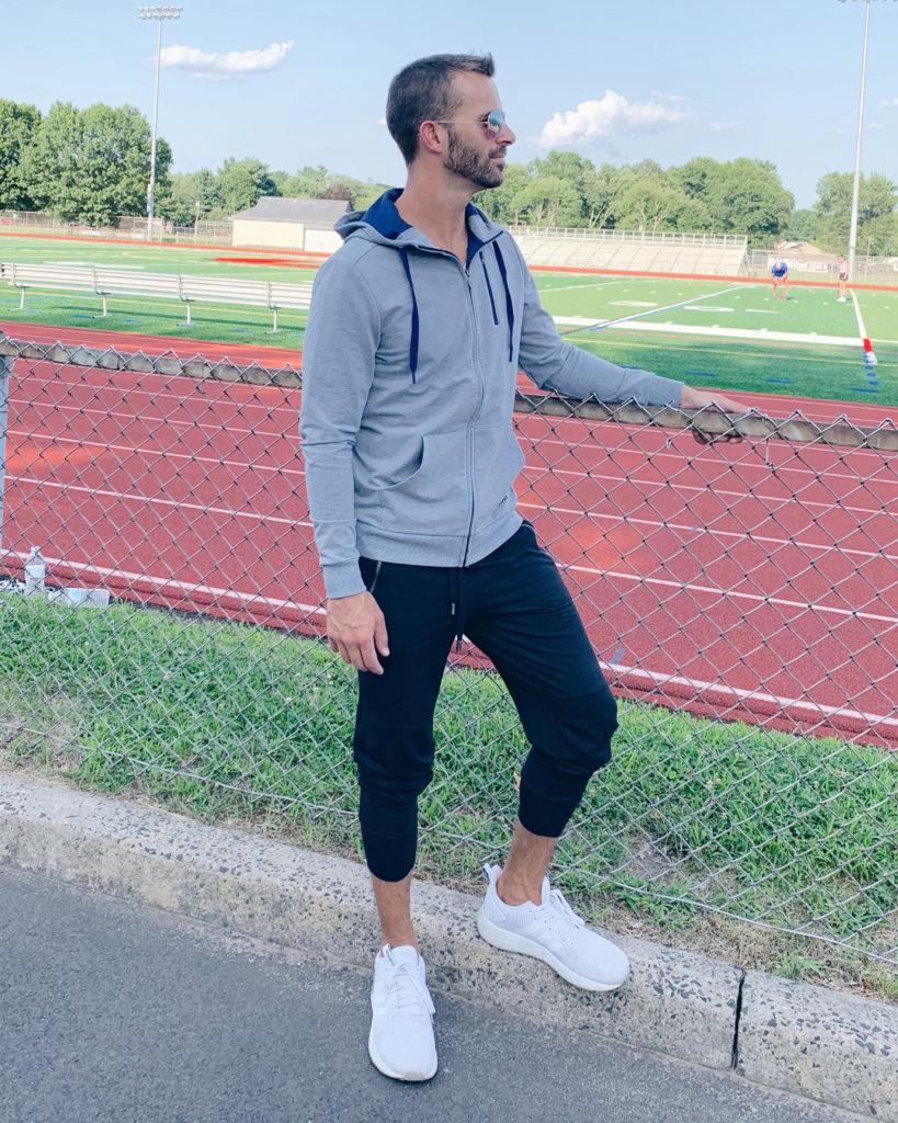 men's jockey workout athleisure outfit on pinteresting plans blog