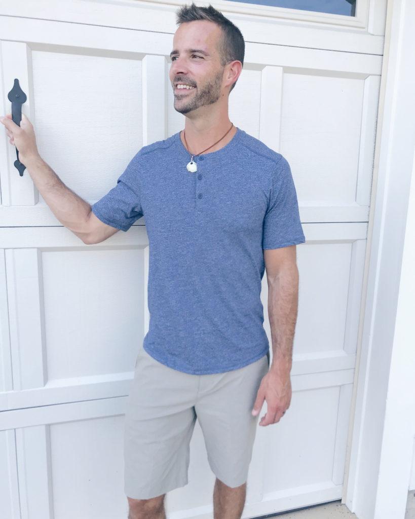 Jockey athleisure wear - mens short sleeve henley tee in workers blue - pinteresting plans blog