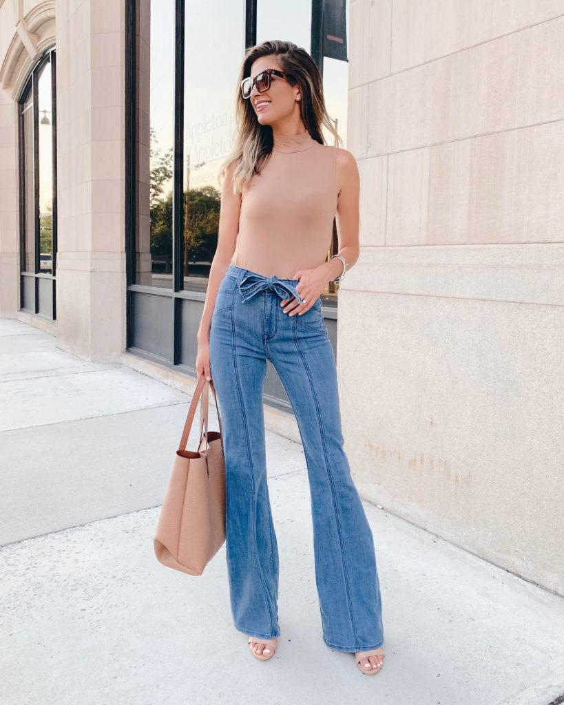 Styling Wide Leg Jeans for Longer Legs