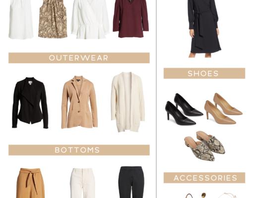 fall capsule wardrobe for work picks from nordstrom on pinteresting plans blog