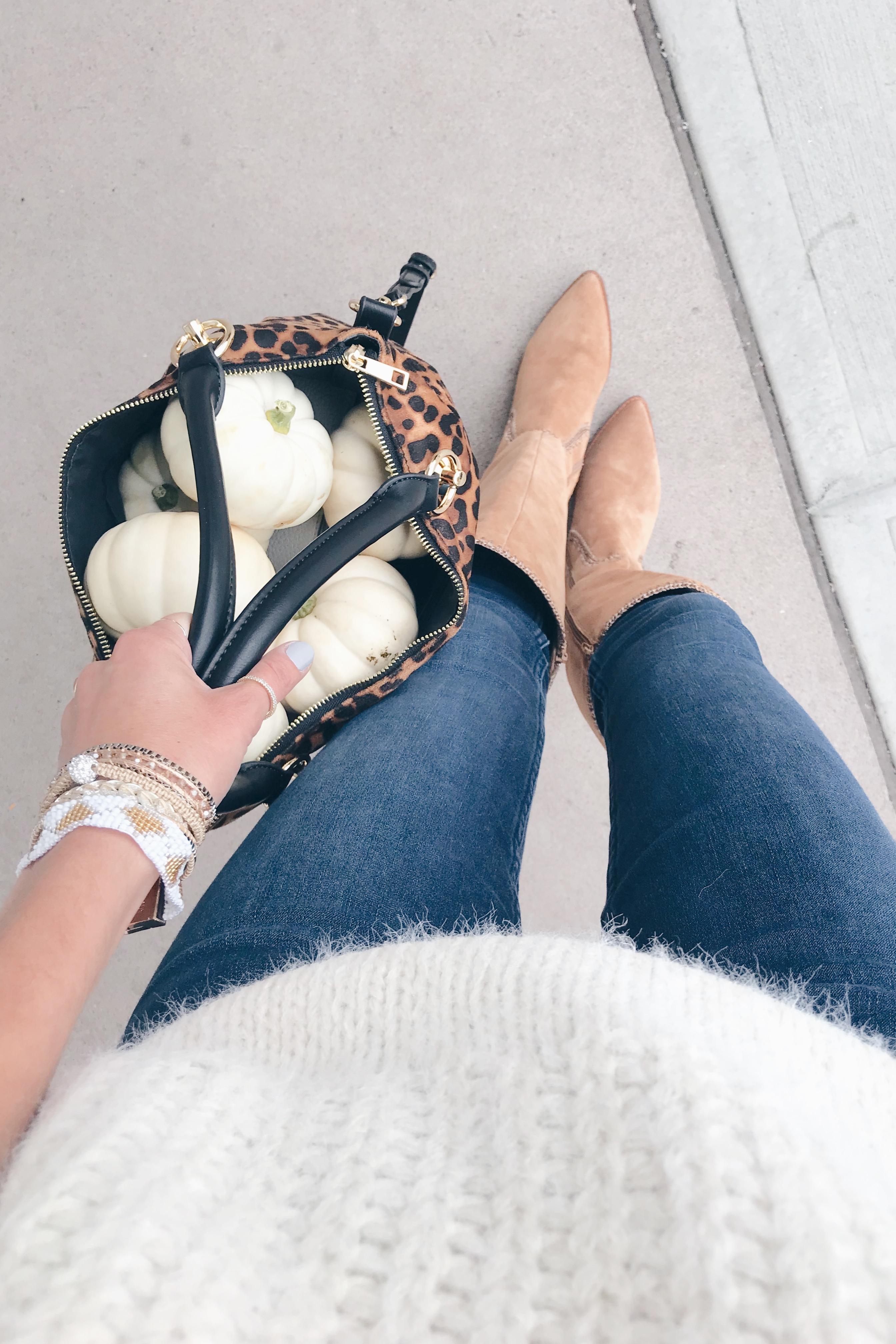 fashion blogger wearing sole society alexie walnut tall boots