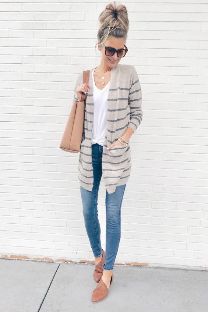 Fashion blogger wearing tan open shank flats - pinteresting plans blog