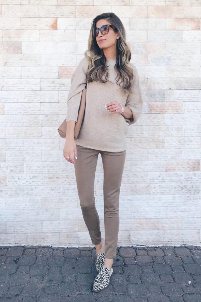 fashion blogger wearing amazon dolman sweater - teacher outfit inspiration on pinteresting plans blog